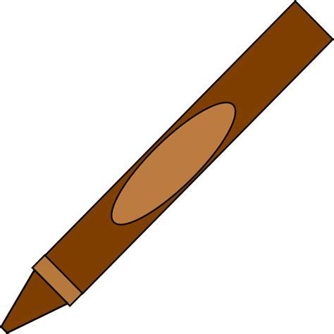 brown clip brown crayon clip at clker vector clip