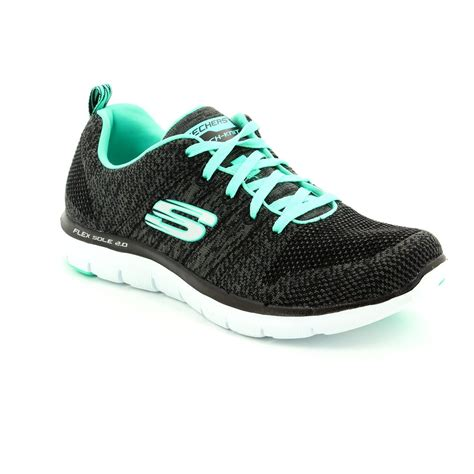 Skechers Flex Appeal skechers flex appeal 2 12756 bbk black trainers
