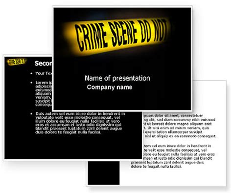 Crime Scene Powerpoint Template Poweredtemplate Com 3 Backgrounds 3 Masters 20 Slides Murder Powerpoint Template