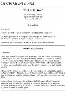 Resume Samples Cashier by Resume To Be A Cashier