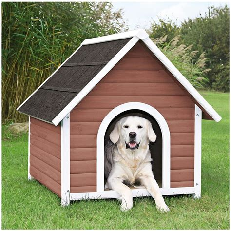 trixie dog house trixie natura nantucket dog house 580959 kennels beds at sportsman s guide