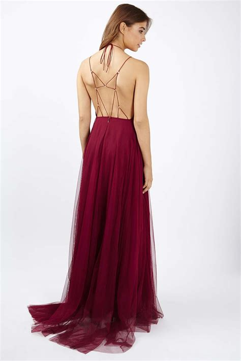 Tulle Top Dress tulle lace up maxi dress topshop