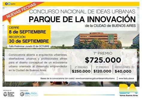 concursos pediatras gobierno de la ciudad 2016 concurso nacional de ideas urbanas parque de la innovaci 243 n