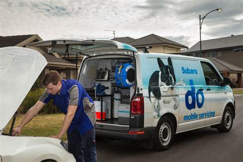 subaru minivan 2016 subaru mobile service vans bring service centres to