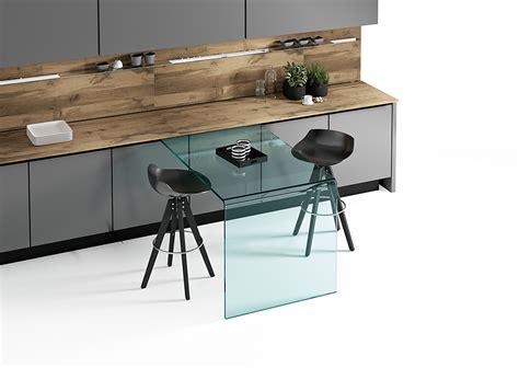 wall mounted desk l rialto l the curved glass wall mounted desk fiam italia
