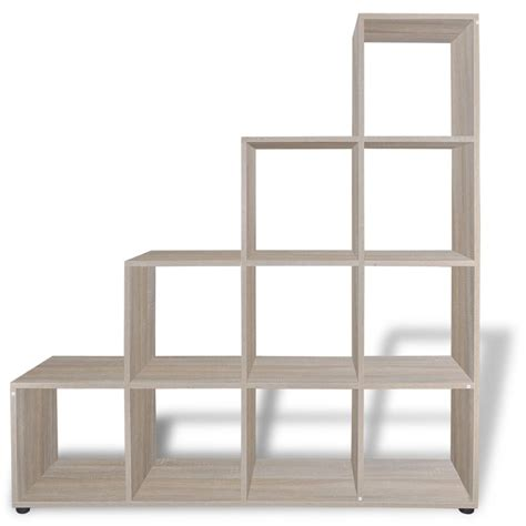 staircase shelf staircase bookcase display shelf 142 cm oak vidaxl co uk