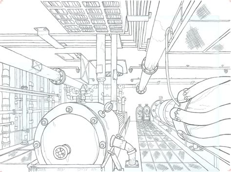 Ship Engine Room Layout Design by Ship Engine Room By Marasai On Deviantart