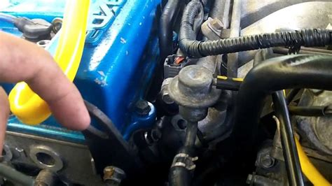 mazda  fuel pressure regulator replacement youtube