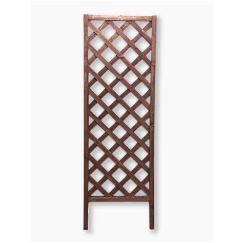 Lowes Trellis shop 24 in w x 72 in h brown garden trellis at lowes