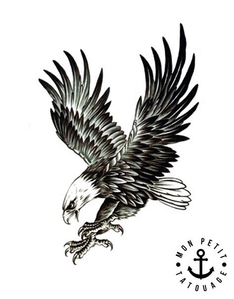 tatouage aigle royal mon petit tatouage temporaire