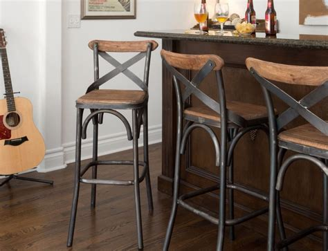Metal Bar Stool Chairs by 30 Quot Square Wood Back Seat Bar Stool High Chair Kitchen