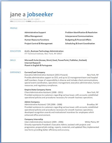 Resume Templates For Word 2013 | word 2013 resume templates learnhowtoloseweight net