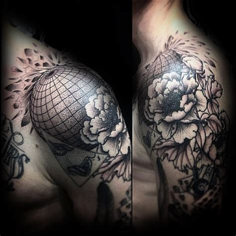 80 globe tattoo designs for men traveler ink ideas