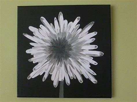 95 simple paintings of flowers black and white black