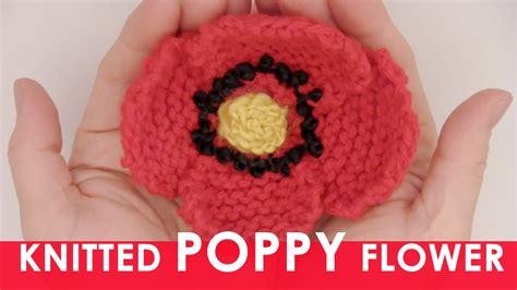 youtube poppy pattern how to knit a poppy flower us226
