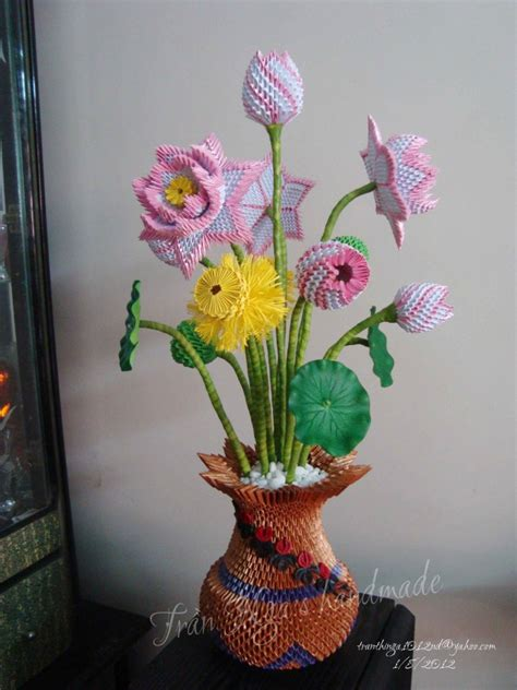 3d Origami Flower Vase - 10 best images of vase 3d origami diagrams 3d origami