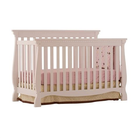 Fixed Side Convertible Crib 4 In 1 Fixed Side Convertible Crib In White 04587 131