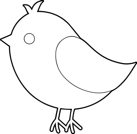 preschool coloring pages birds simple bird coloring page preschool ideas pinterest