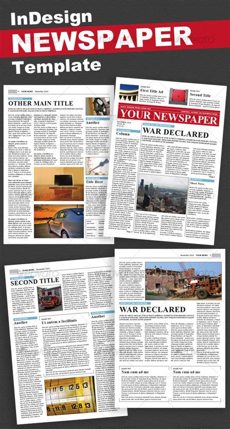 Indesign Newspaper Template Free 35 Best Newspaper Templates In Indesign And Psd Formats Psdtemplatesblog