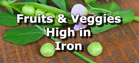 fruit high in iron fruits and vegetables high in iron