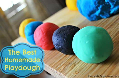 Handmade Playdough - the best playdough recipe domestic