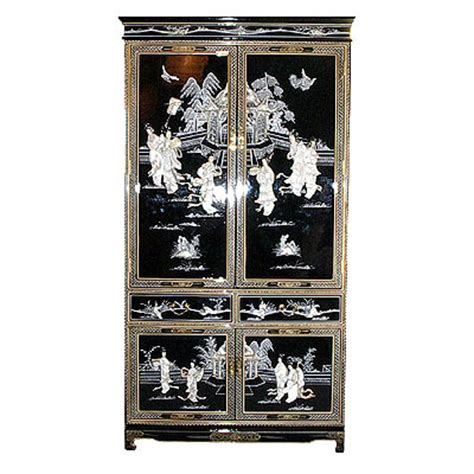 oriental armoire oriental armoire in black with mother of pearl inlays