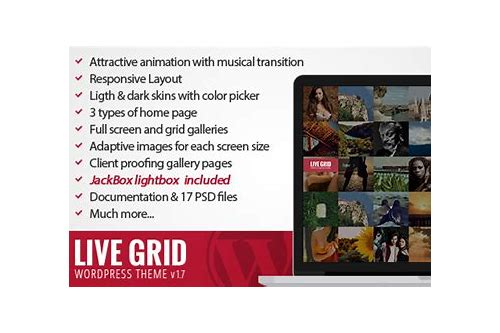 live grid responsive interactive wordpress theme download