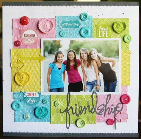 scrapbook layout for friends creative and romantic scrapbooking ideas