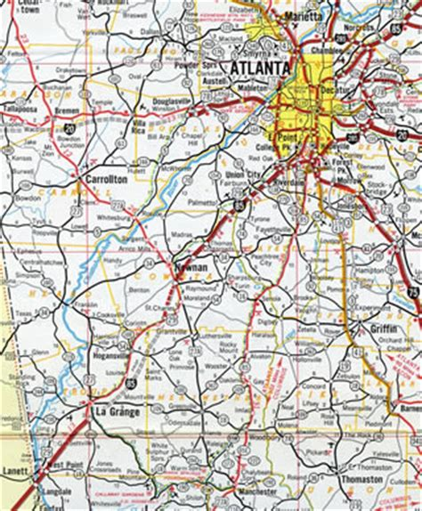 map of atlanta with exits aaroads interstate 85