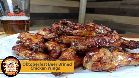 oktoberfest beer brined chicken wing recipe youtube