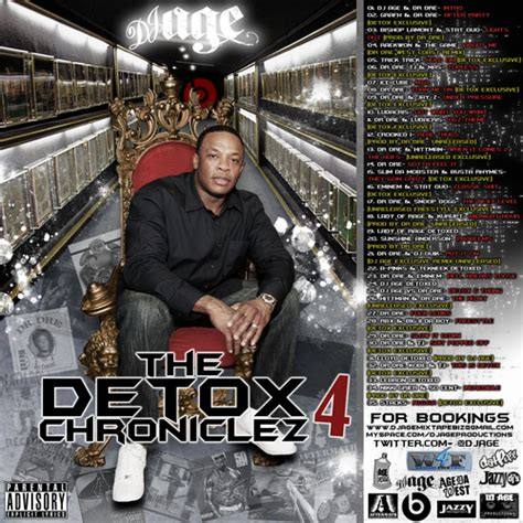 The Detox Chroniclez Vol 5 by Dr Dre The Detox Chroniclez Vol 4 Hosted By Dj Age