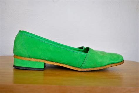green flats shoes 1960s green flats s 1960s italian leather shoes