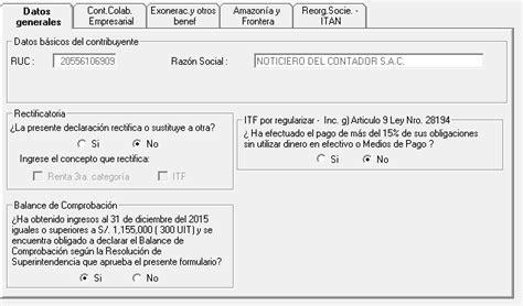 pdt renta anual 2015 renta anual 2015 pdt 702 noticiero contable