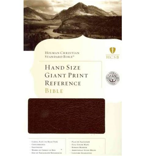 libro hand size giant print hand size giant print reference bible hcsb broadman holman publishers 9781433601682