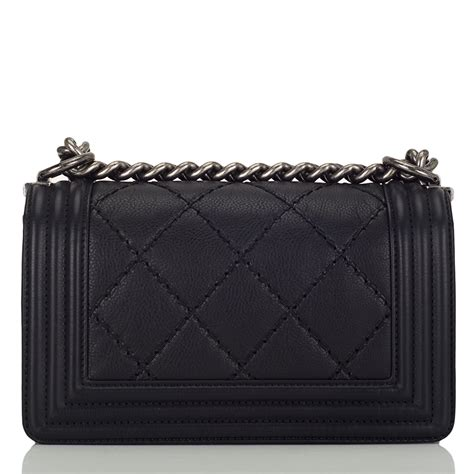 Chanel Quilted Calfskin Doctor Bag by Chanel Black Quilted Calfskin Small Quilt Boy Bag
