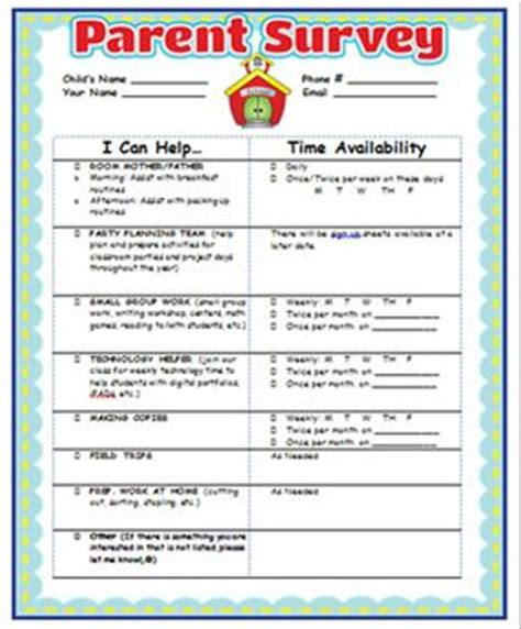 parent satisfaction survey template best 25 parent survey ideas on 1st year