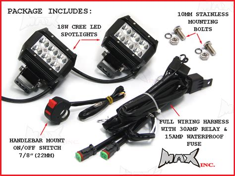 motorcycle wiring harness driving lights fog light wiring
