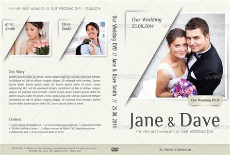 wedding dvd cover template 20 beautiful wedding dvd cover templates