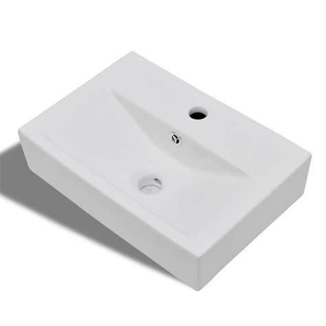 overflow hole in sink vidaxl co uk ceramic bathroom sink basin faucet overflow