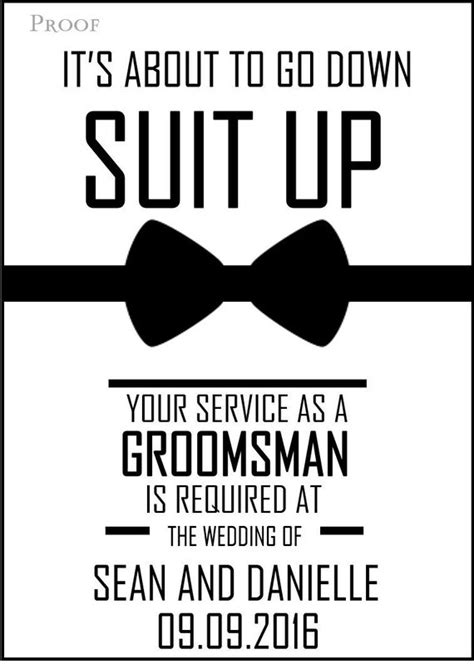 Groomsman Card Template by Will You Be My Groomsman Printable Invite For Your Boys