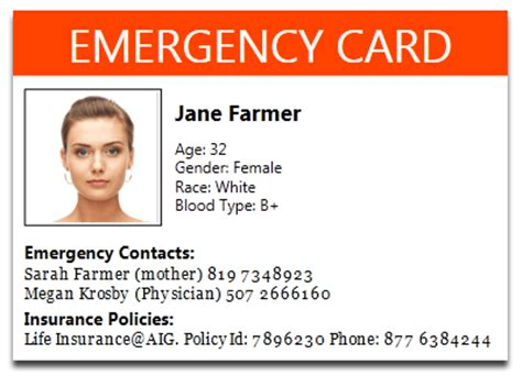 in of emergency wallet card template how to print emergency card goopatient