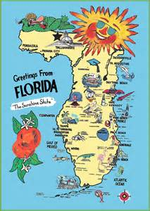 maps update 11521621 travel map of florida pictorial