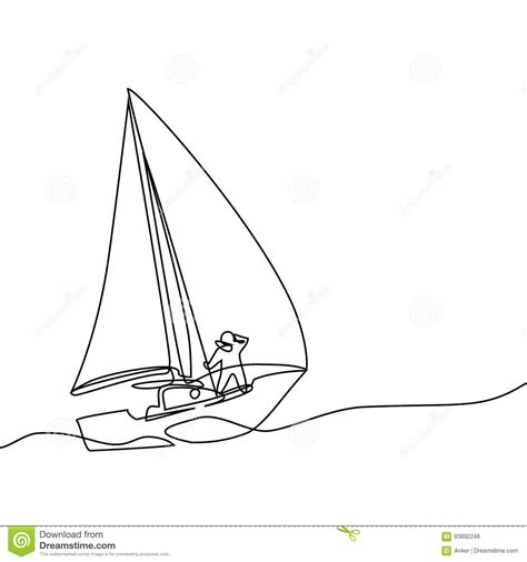continuous line drawing of paper boat stock vector image - Paper Boat Line Drawing