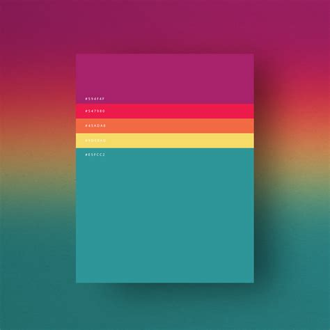 beautiful color schemes 8 beautiful color palettes for your next design project