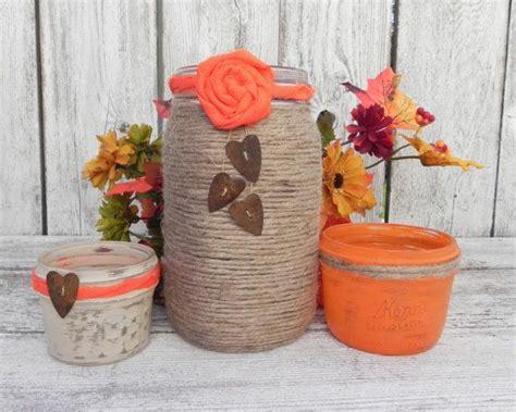 vasi shabby chic shabby arancione vasi arredamento shabby
