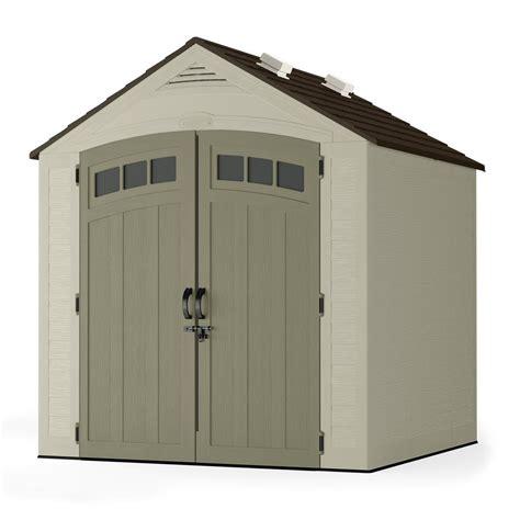 suncast outdoor cabinet assembly instructions suncast vista 7 ft x 7 ft resin storage shed bms7702