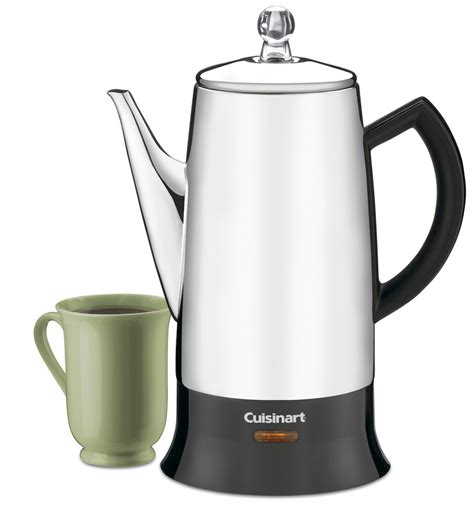 PRC 12   Classic 12 Cup Percolator   Coffee Makers   Products   Cuisinart.com