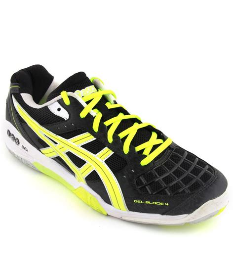 sports shoes for badminton asics black badminton sports shoes gel blade 4 buy