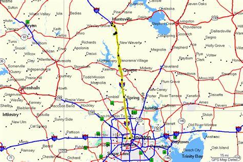 map of huntsville texas huntsville national forrest texas