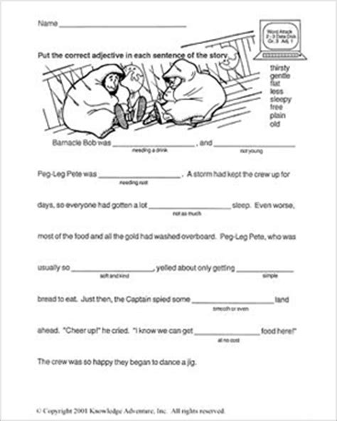 printable reading worksheets 3rd grade